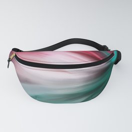 Modern teal pink white watercolor brushstrokes Fanny Pack
