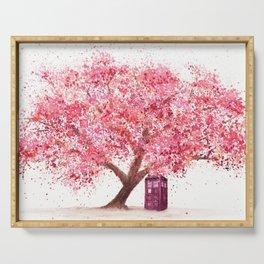 Tardis Tree Art Blossom Serving Tray
