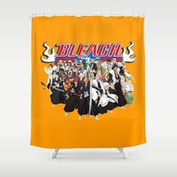 bleach Shower Curtains featuring TOGETHER BLEACH by feimyconcepts05