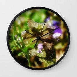 Dead Nettle Wall Clock