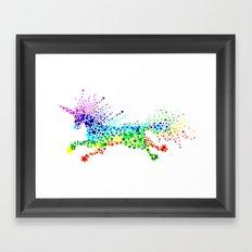 Unicorn - Licorne - Unicornio - Einhorn 02 Framed Art Print