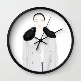Shrinking Vionette Wall Clock