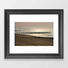 An Autumn Beach 1/2 Framed Art Print