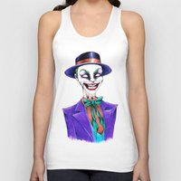 the joker Tank Tops featuring JOKER by ReadThisVA