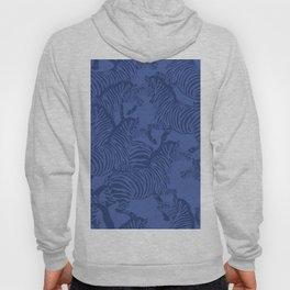 Zebra Stampede in Classic Blue Hoody