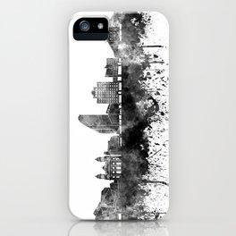 San Jose skyline in black watercolor iPhone Case