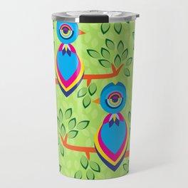 Tropical birds on trees Travel Mug