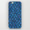 Sparkly Turquoise & Blue & Glitter Mermaid Scales by nomadartstudio