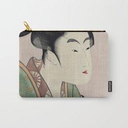 Yogoto ni au Koi by Utamaro Kitagawa (1753-1806) translated love that meets each night a print of a Carry-All Pouch
