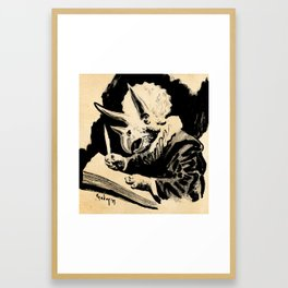 Triceratops Van Rijn Framed Art Print