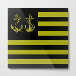 Anchor Nation Dark Metal Print