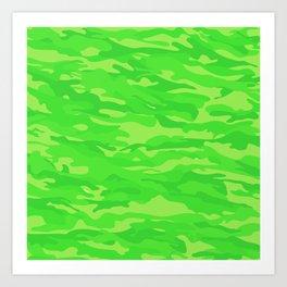 camuflaje 7 Art Print