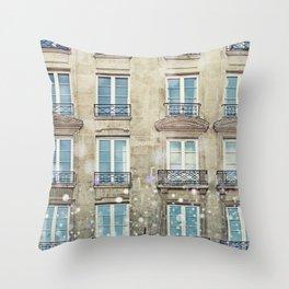 Paris Windows Throw Pillow