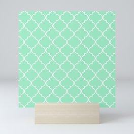 Quatrefoil - Mint Mini Art Print