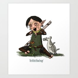 The Littlest Blood Mage Art Print