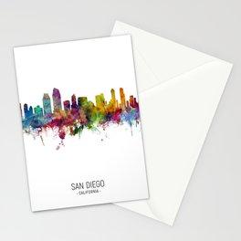 San Diego California Skyline Stationery Cards