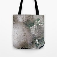 furry Tote Bags featuring Furry Crystal  by Rem N
