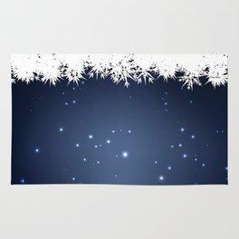 Adorable snowy night Rug