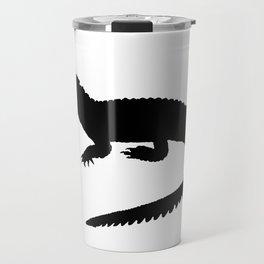 Crocodile Black Silhouette Animal Pet Cool Style Travel Mug