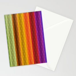 Jewel Tone Color Stripes Stationery Cards