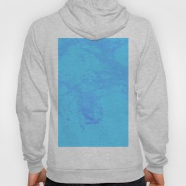 Fluid acrylic Pour Blue Clouds Hoody