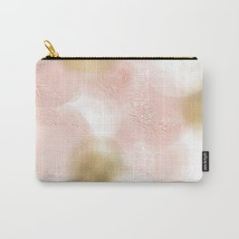 Rose Gold and Gold Blush Carry-All Pouch