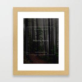 Recovery Tip #9 Framed Art Print
