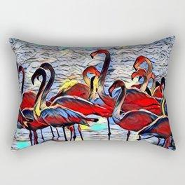 Color Kick Flamingos Rectangular Pillow