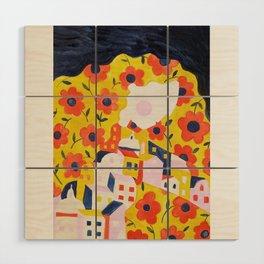 Flower Woman Wood Wall Art