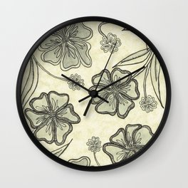Pansy Perfection Wall Clock