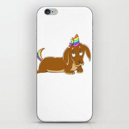 Weinercorn  Unicorn Weiner Dog Dachshund iPhone Skin