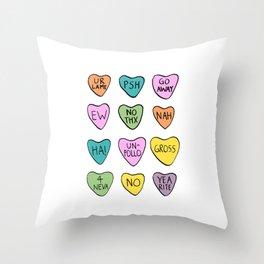 Anti Hearts Throw Pillow