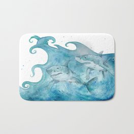 What If... Sharks had arms? Bath Mat