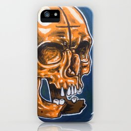 Skull Oil Painting  iPhone Case