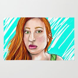 Green-Eyed Girl Rug