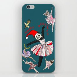 Hipster Holiday Ballerinas iPhone Skin