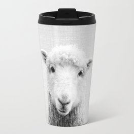 Sheep - Black & White Travel Mug