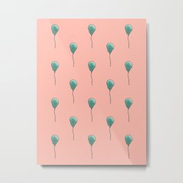 Balloon Pattern Metal Print