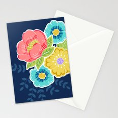 Floral Beauty - Midnight Stationery Cards