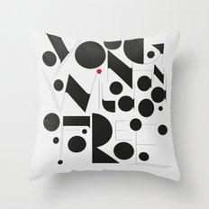 B&W Typography Throw Pillow