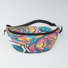 technicolor roses Fanny Pack
