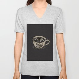 Coffee Break Painting Artwork Unisex V-Neck
