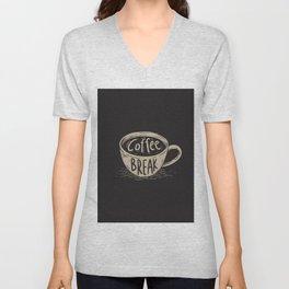 Coffee Break Painting Artwork Unisex V-Neck