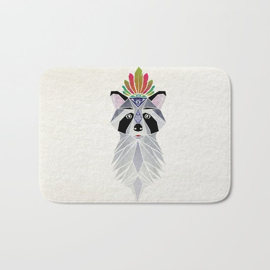 raccoon spirit Bath Mat