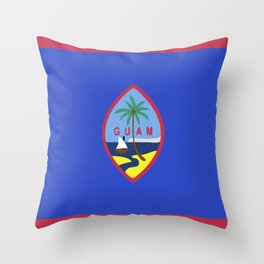 Guam flag emblem Throw Pillow