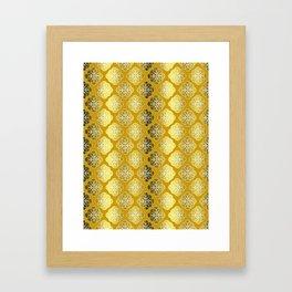 Shades Of Gold Framed Art Print