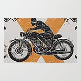 Vintage Speedmaster Bike Racing Poster Rug
