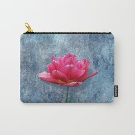Pink Tulip Carry-All Pouch
