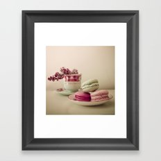 Lilac and Macaroons Framed Art Print