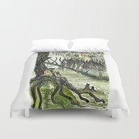 yoda Duvet Covers featuring Yoda by Lydia Joy Palmer